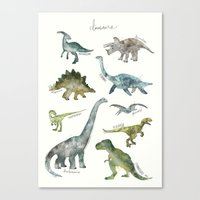 dinosaurs Canvas Prints featuring Dinosaurs by Amy Hamilton
