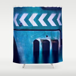 Road Roller Chevron 04 - Industrial Abstract (everyday 20.01.2017) Shower Curtain
