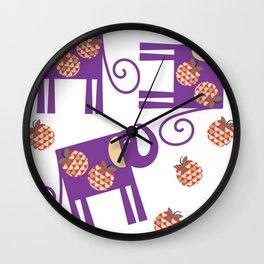 Elephants 4XF Wall Clock