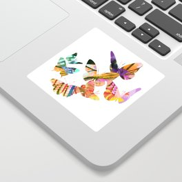 Butterfly Swarm Sticker