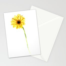 Yellow Gerbera Stationery Cards