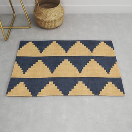 Lash in Blue and Gold Rug
