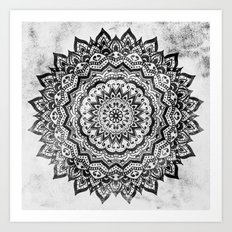 BLACK JEWEL MANDALA Art Print