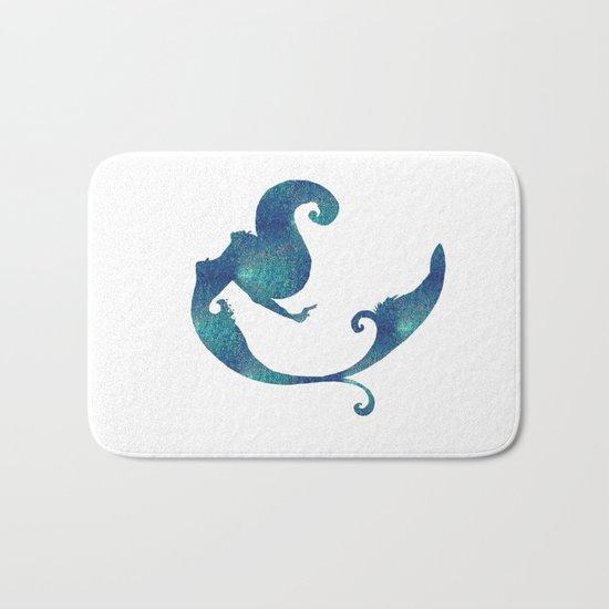 Azure mermaid Bath Mat