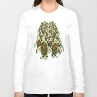 penguins Long Sleeve T-shirts featuring penguins by Kiryadi