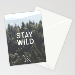 Stay Wild - Mountain Pines Stationery Cards