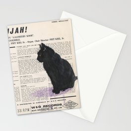 His Master's Voice - Cat Stationery Cards