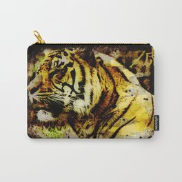 Wild Tiger Artwork Carry-All Pouch