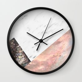 Marble with sequins and mother of pearl Wall Clock