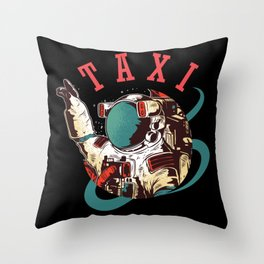 Taxi For Astronauts Throw Pillow