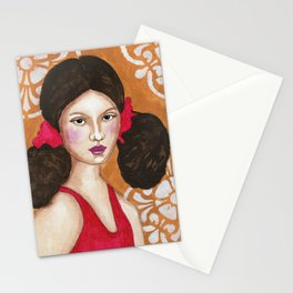 Isabel in Pink Mixed Media Stationery Cards