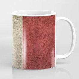 Old and Worn Distressed Vintage Flag of Italy Coffee Mug