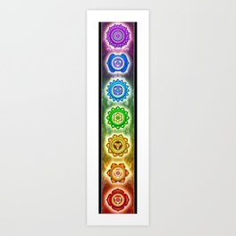 """The Seven Chakras - Series """"Open Chakra"""" Art Print"""