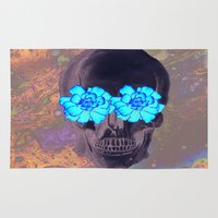 day of the dead Area & Throw Rugs featuring Day of the Dead by Charlotte Anderson