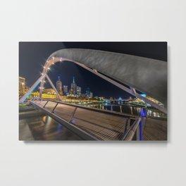 Southgate Bridge at Night Metal Print