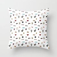 klaine Throw Pillows featuring Pattern of Klaine things by Jen K