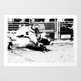 Bull Riding Champ Art Print