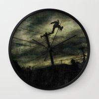 hunting Wall Clocks featuring Hunting by Matthew Dunn