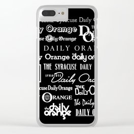 Daily Orange Flag Print - Inverse Clear iPhone Case