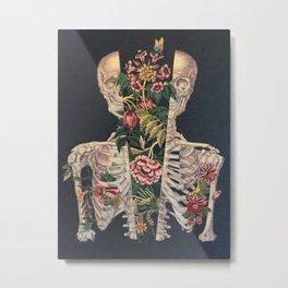 Skeleton of flowers Metal Print