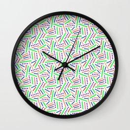 Zig Zag Memphis Pattern Wall Clock