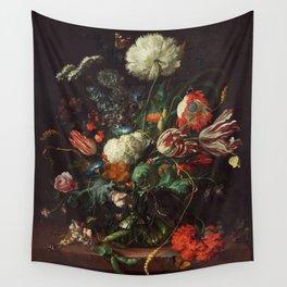 Jan Davidsz de Heem - Vase of Flowers Wall Tapestry