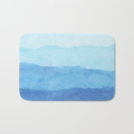 Ombre Waves in Blue Bath Mat
