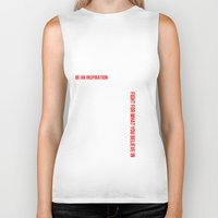 motivation Biker Tanks featuring MOTIVATION by Cindy Lepage
