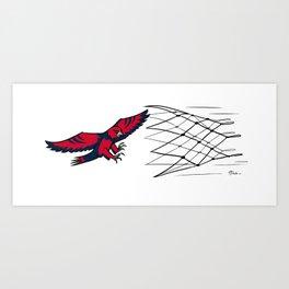 Hawks vs Nets Art Print