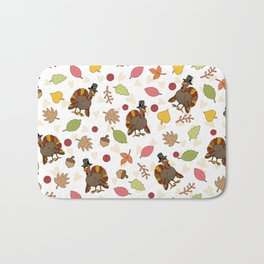 Thanksgiving Turkey pattern Bath Mat