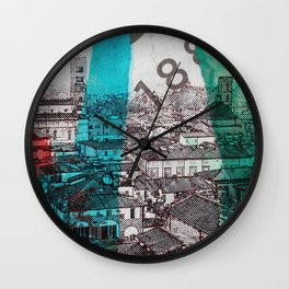 Lucca  roofs Wall Clock
