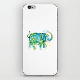 An elephant pattern, elephant illustration, elephant drawing, elephant design iPhone Skin