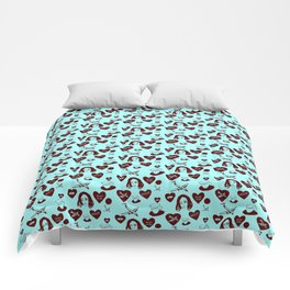 aspri petra white stone heart kalimera Comforters