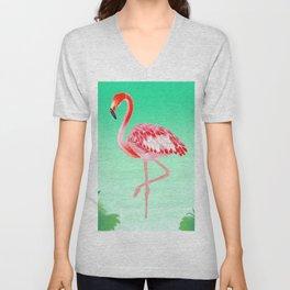 Tropical Flamingo Unisex V-Neck