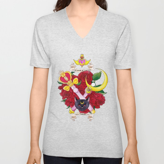 In the Name of the Moon I Will Punish You Unisex V-Neck