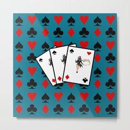playing cards Metal Print