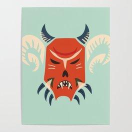 Kuker Evil Monster Mask Poster