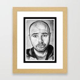 Karl Pilkington Portrait Framed Art Print