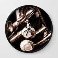 jazz Wall Clocks featuring Jazz by KunstFabrik_StaticMovement Manu Jobst