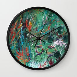 Memories full with forest Wall Clock