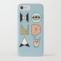 garfield iPhone & iPod Cases featuring MONDAY by Wesley Bird
