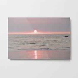 sunset on the beach II Metal Print