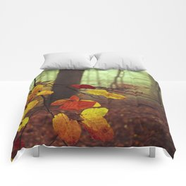 Leaves in Autumn Comforters
