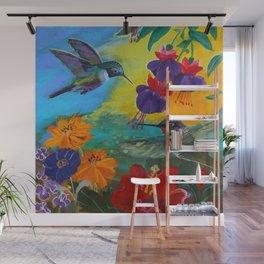 Hummingbirds Wall Mural