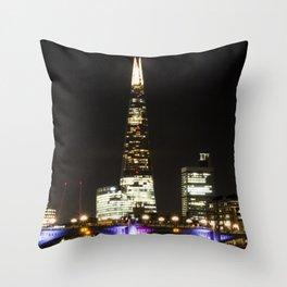Shard at night. Throw Pillow