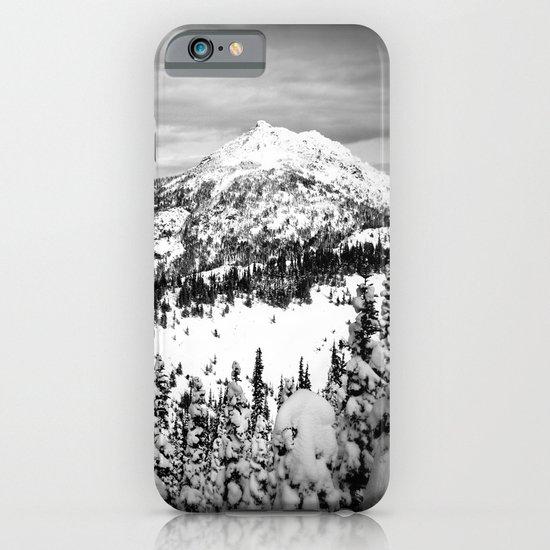 Snowy Mountain Peak Black and White iPhone & iPod Case