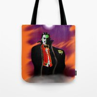 dracula Tote Bags featuring Dracula by JT Digital Art