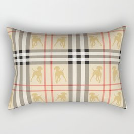 WEIMARANERS AND BEIGE PLAID2 Rectangular Pillow