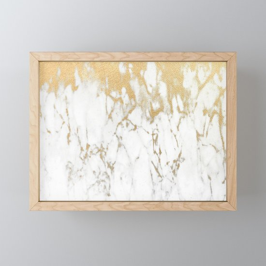 White Gold Marble by nlmiller07art