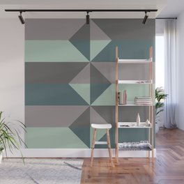 Cast Light in Charcoal and Green Wall Mural